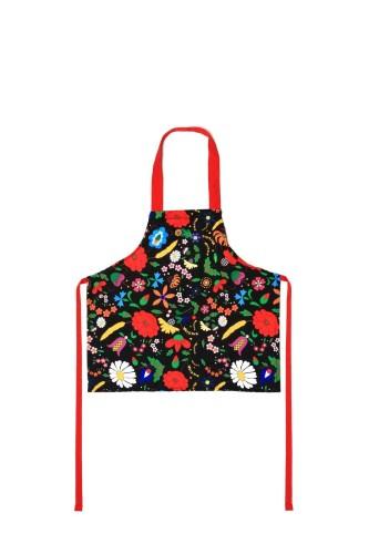 d3e036b44492 Fartuch kuchenny dla dzieci z motywem kwiatów kociewskich